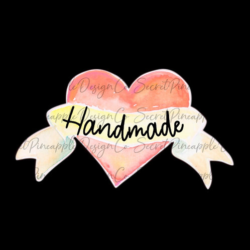 Handmade • Heart • Sticker Sheet