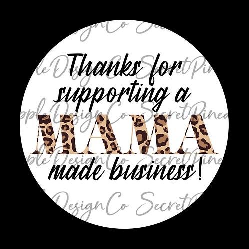Mama Made • Leopard • Animal Print  • Sticker Sheet