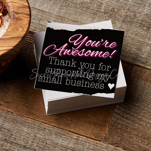 "You're Awesome • Thank You • Insert Cards 2.5""x2.5"""