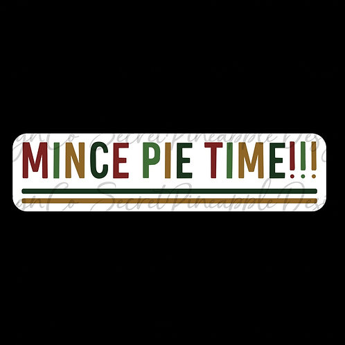 Mince Pie Time • Christmas • Sticker Sheet