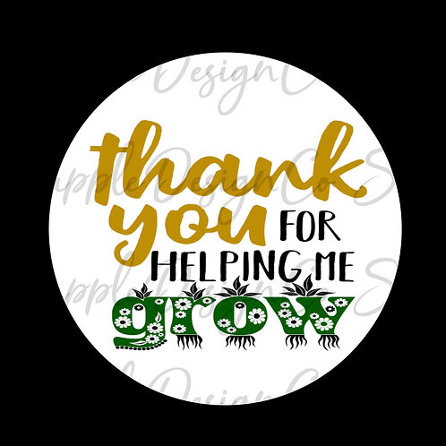 Gold & Green • Thank You for Helping Me Grow • Sticker Sheet