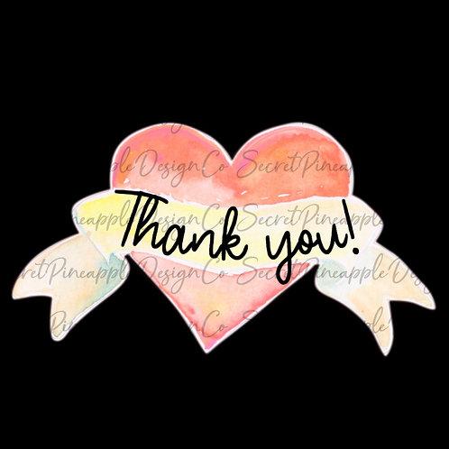 Thank you • Heart Banner • Sticker Sheet