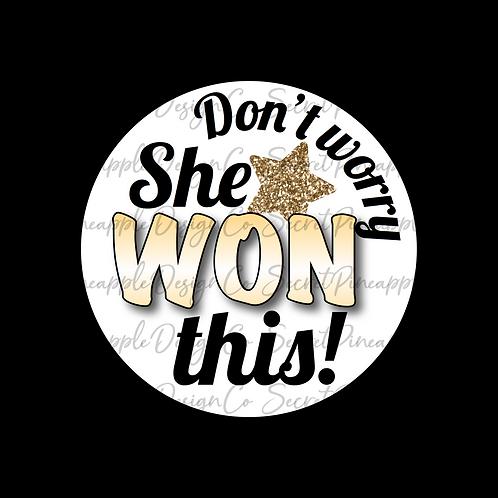 Gold Star • She Won • Sticker Sheet