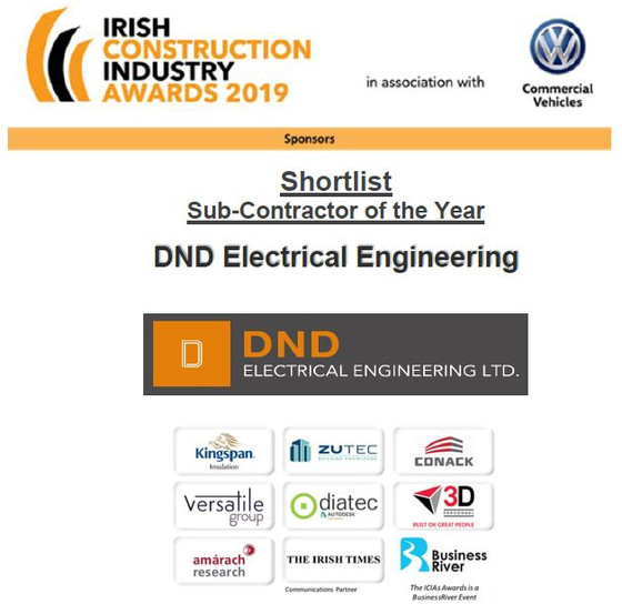National Irish Construction Awards 2019