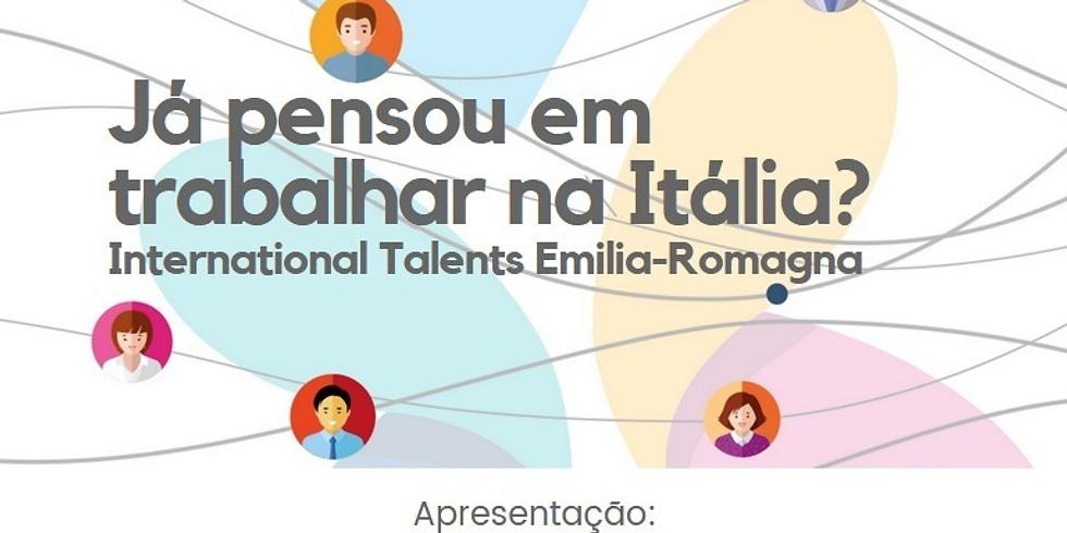 Já pensou em trabalhar na Itália? International Talents Emilia Romagna