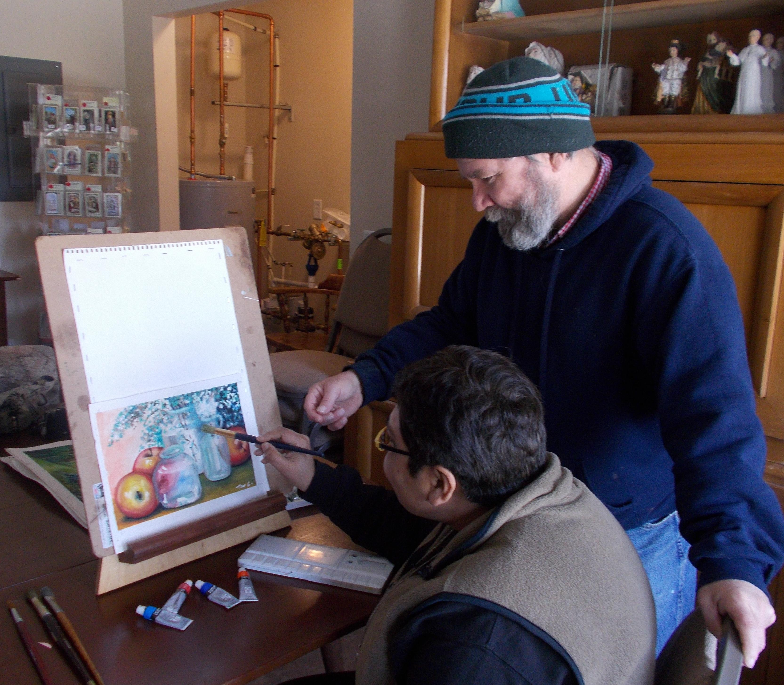 Faith and Canvas Painting Class