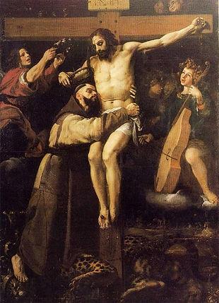 Saint Francis Embracing Jesus by Francisco Ribalta