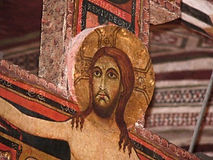 Saint Francis Third Order Confraternity of Penitents shows Jesus on original crucifix of San Damiano in Assisi