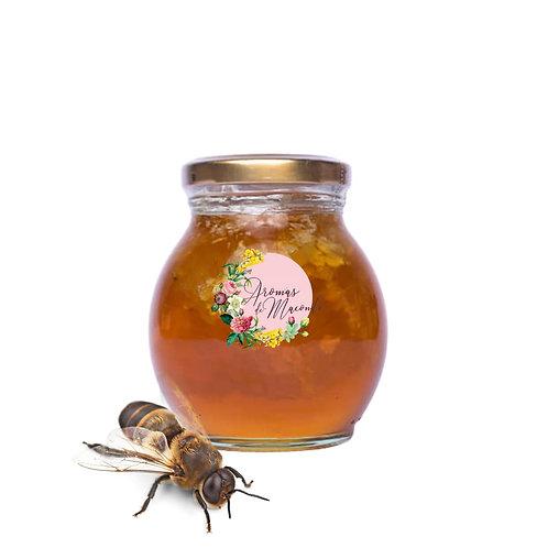 Miel de abeja con panal
