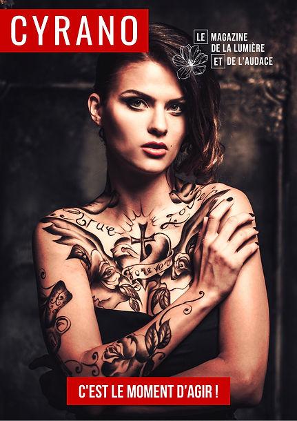 Femme tatouage CYRANO
