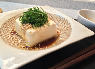 Cold tofu with mentsuyu dressing ( Hiyayakko )