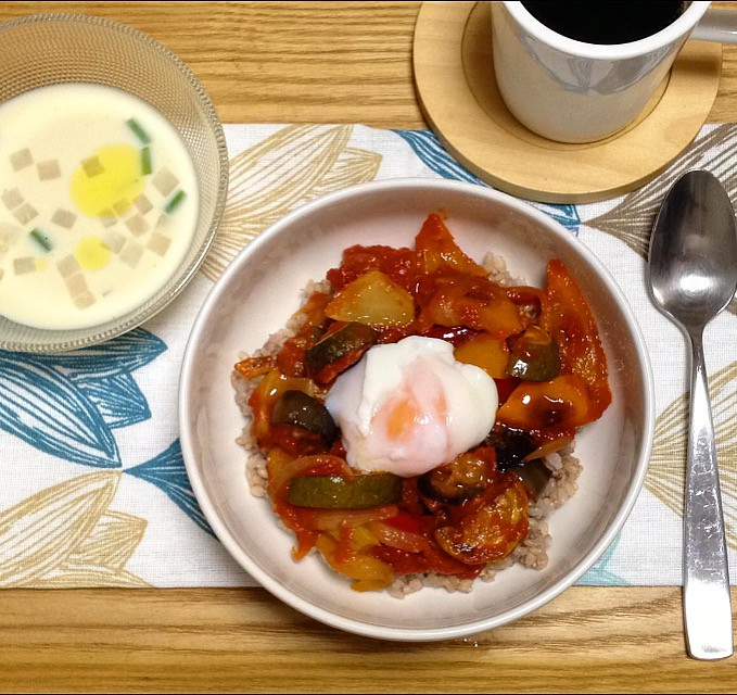 Ratatouille with soft boiled egg DON