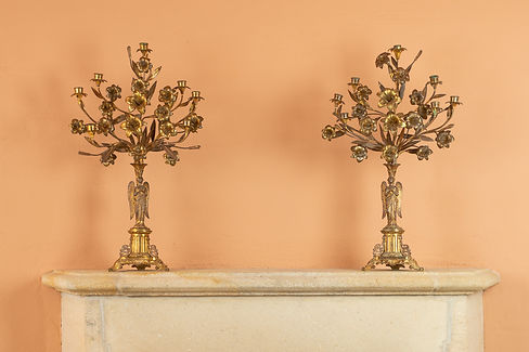 Product photography gold candelabra x
