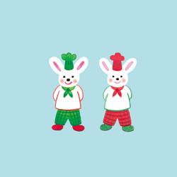 双子のウサギのパン屋さん