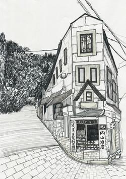 長崎・グラバー園に続く坂
