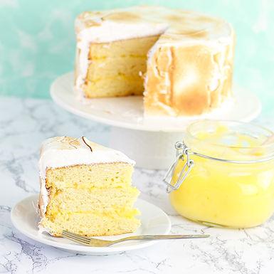 Torta rellena con Lemon Curd