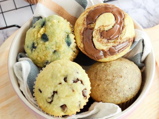 Muffins | 1 Receta | 4 Sabores |