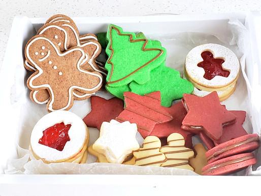 Caja de Galletas de Mantequilla para Navidad