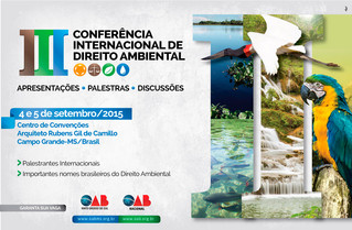 Inscreva-se: III Conferência Internacional de Direito Ambiental