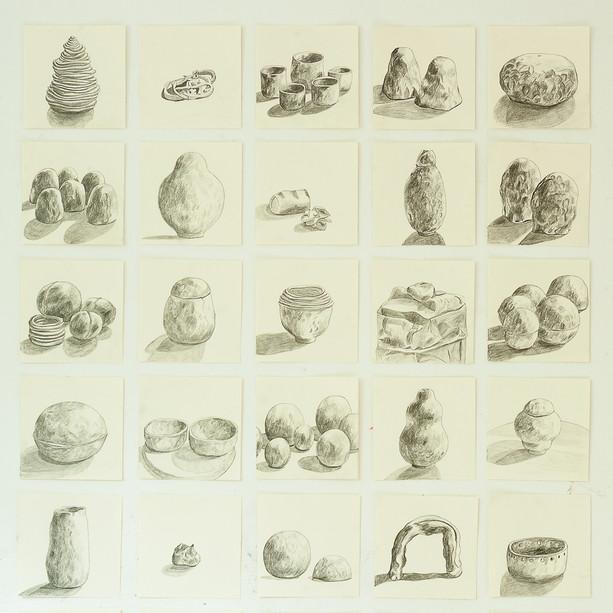 Teckningar av lera
