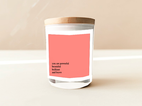 Soulful Quote Candle - Everything you are