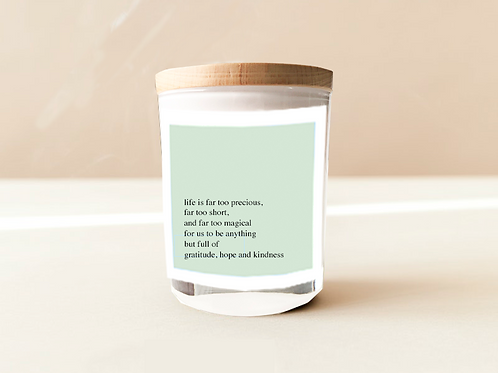 Soulful Quote Candle - Life is precious