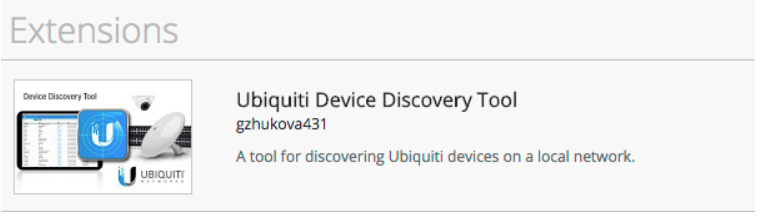 Attached an image showing the fake Ubiquiti Device Discovery Tool that was listed in the Chrome Web Store
