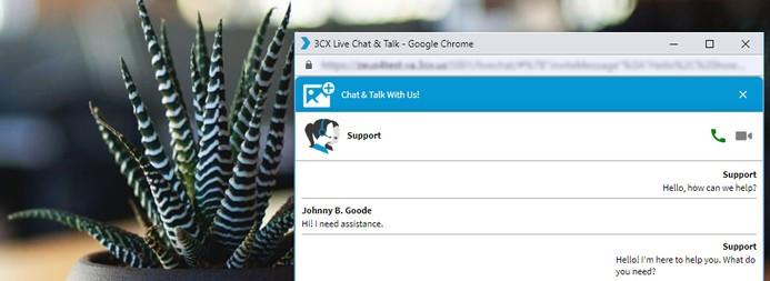 3CX Live Chat App