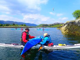 Kayak repairs afloat