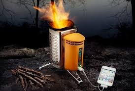 Hi-tech Biotite stove charging a mobile!