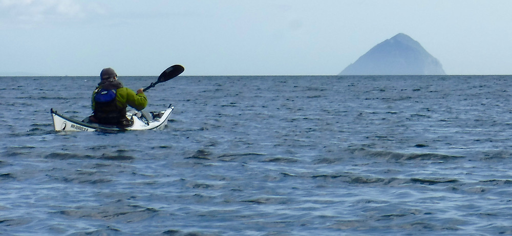 Paddling towards the mighty Ailsa Craig by Phil Keetley