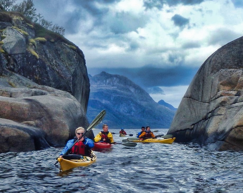 Sea kayaking the Trollfjord