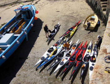 Loading and unloading the boats