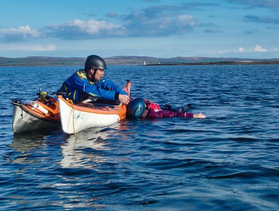 Injured paddler rescue