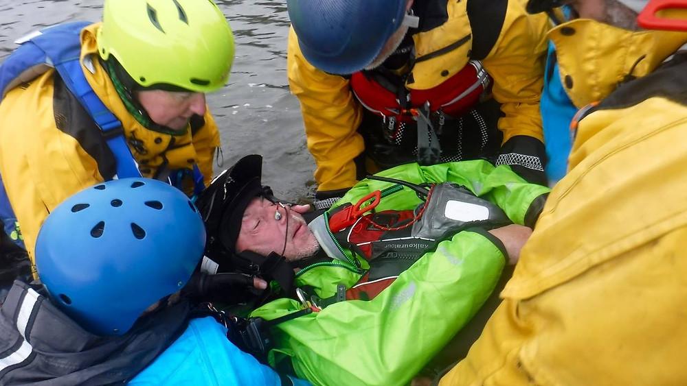 REC L3 Sea Kayak 1st Aid - be prepared to get wet!