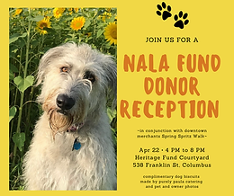 Join us for the Nala Fund Donor Reception on 4/22 in the Heritage Fund Courtyard