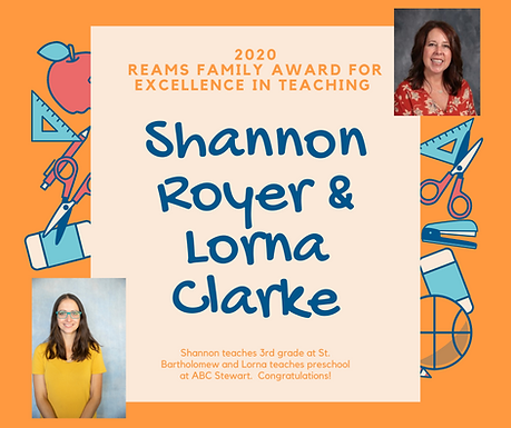 Reams Family Award for Excellence in Teaching Award Winners