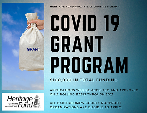 Heritage Fund Offers COVID-19 Grant Funding in 2021
