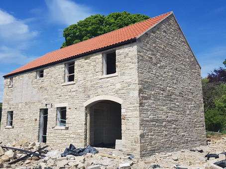 Plot 1: Roof is Completed - May 2019