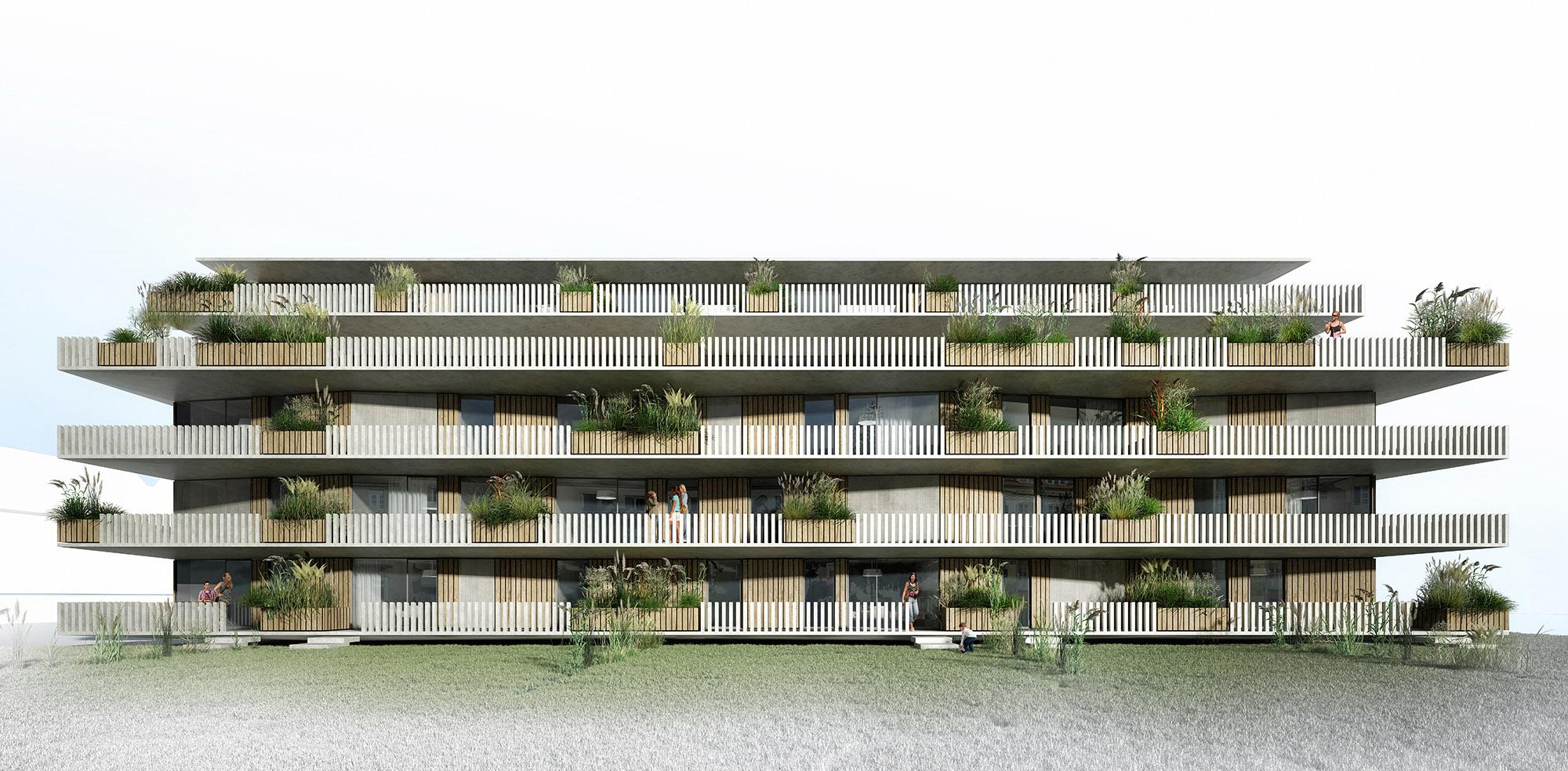2.Preis Wettbewerb Grillparzerstraße