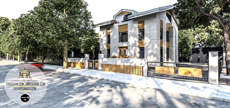 etiler villa mimari dış cephe tasarımı