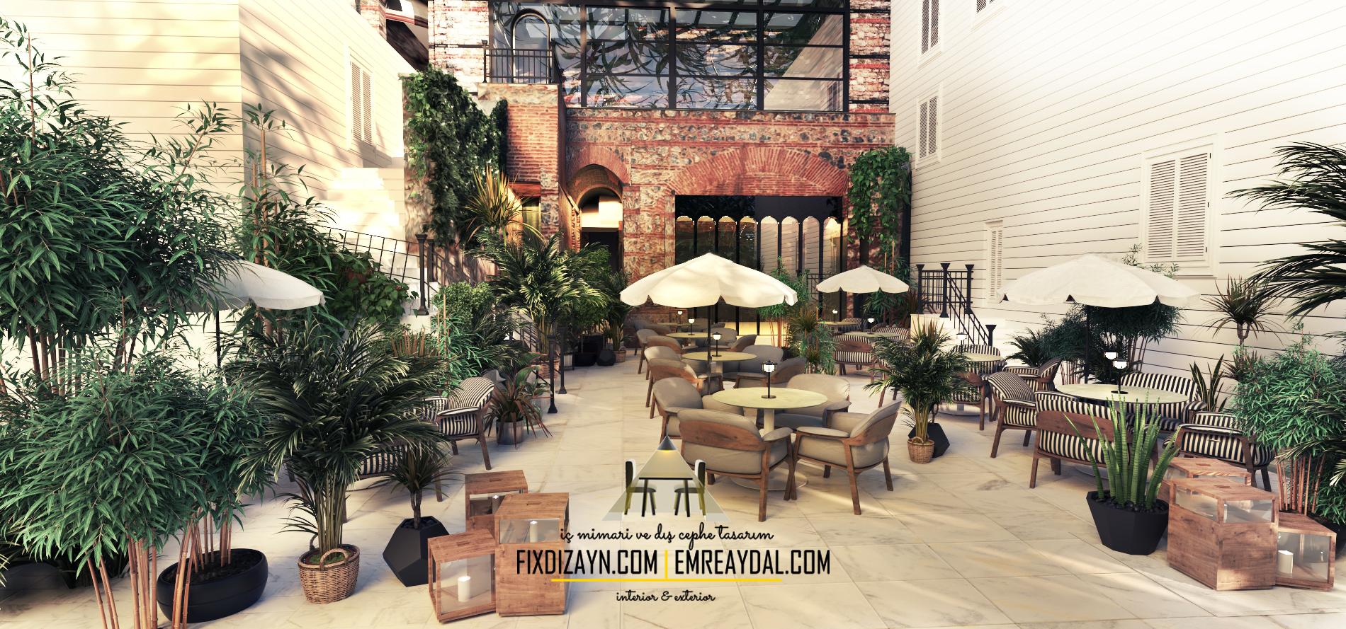 kafe teras tasarımı