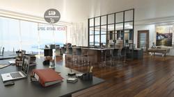 Ofis iç mimari tasarım, render