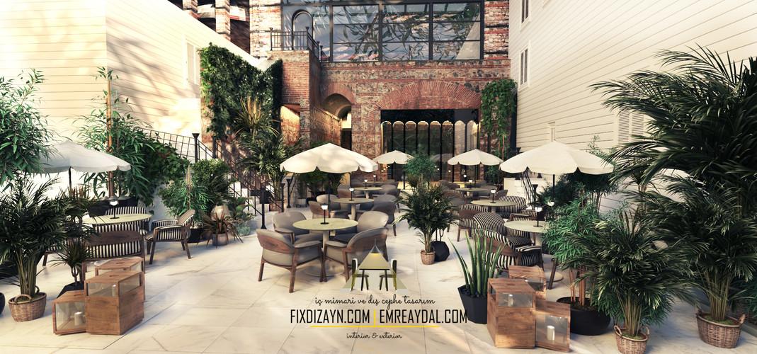 kafe mimari tasarım (six sense bosphorus)