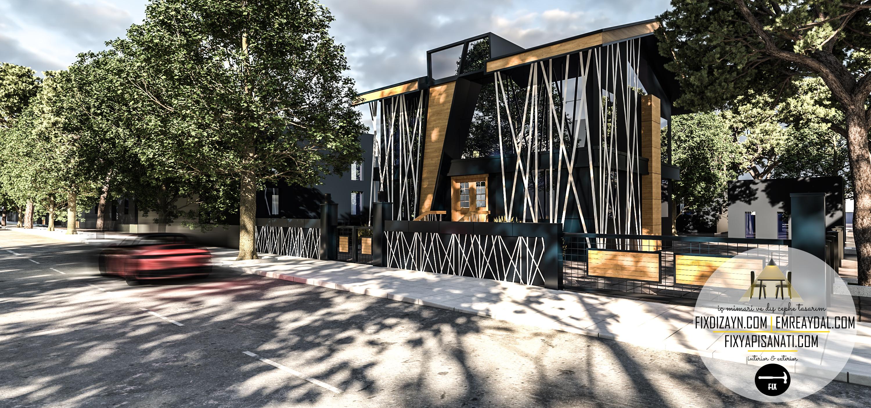 Etiler Villa Ofis Dış Cephe Tasarımı