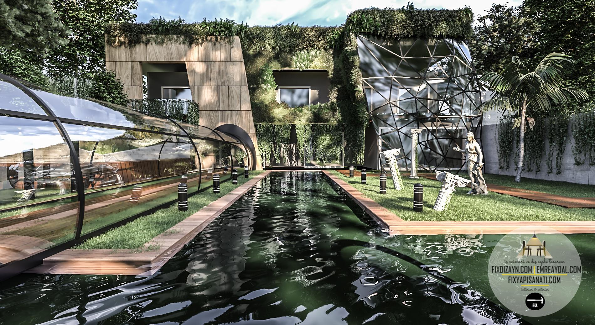 villa mimari dış cephe tasarımı