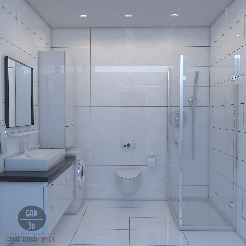 Banyo Mimari Görselleştirme