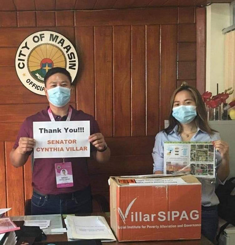 The office of Senator Cynthia Villar delivered vegetable seeds to Maasin City