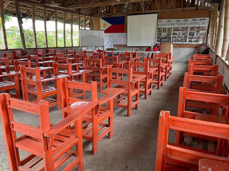 Turnover of recycled plastic chairs to Bakaan Farm Resort Training Center in Salcedo Ilocos Sur