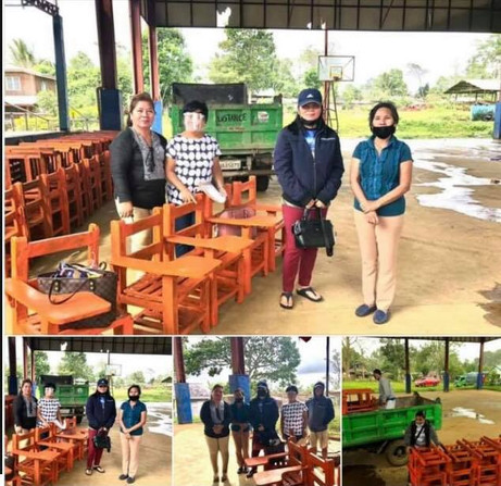 Delivered recycled plastic chairs to the LGU Aposkahoy Claveria, Misamis Oriental